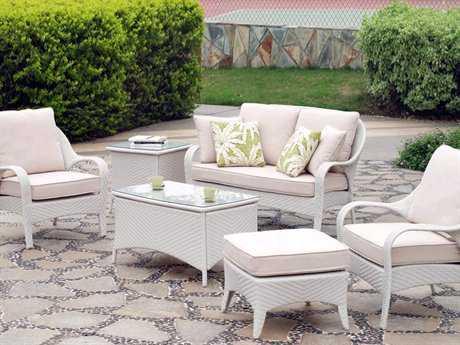 South Sea Rattan Bahia Wicker Conversation Cushion Lounge Set