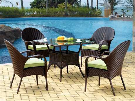 South Sea Rattan Bahia Bistro Cushion Wicker Dining Set