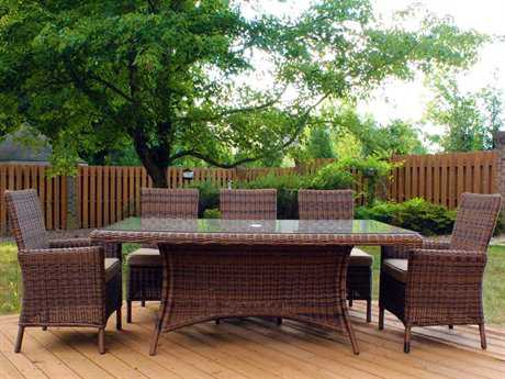 South Sea Rattan Del Ray Wicker Dining Set