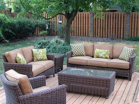 South Sea Rattan Del Ray Wicker Lounge Set SRDLSWR