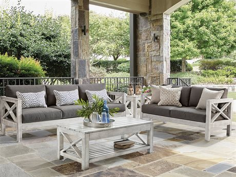 Farlowe Aluminum Brushed White Lounge Set