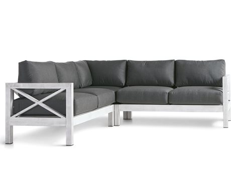 South Sea Rattan Farlowe Aluminum Sectional Lounge Set
