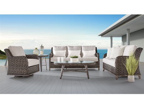 South Sea Rattan Grand Isle Wicker Lounge Set