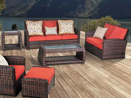 South Sea Rattan Huntington Wicker Lounge Set