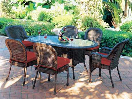 South Sea Rattan Key West Wicker Casual Cushion Dining Set