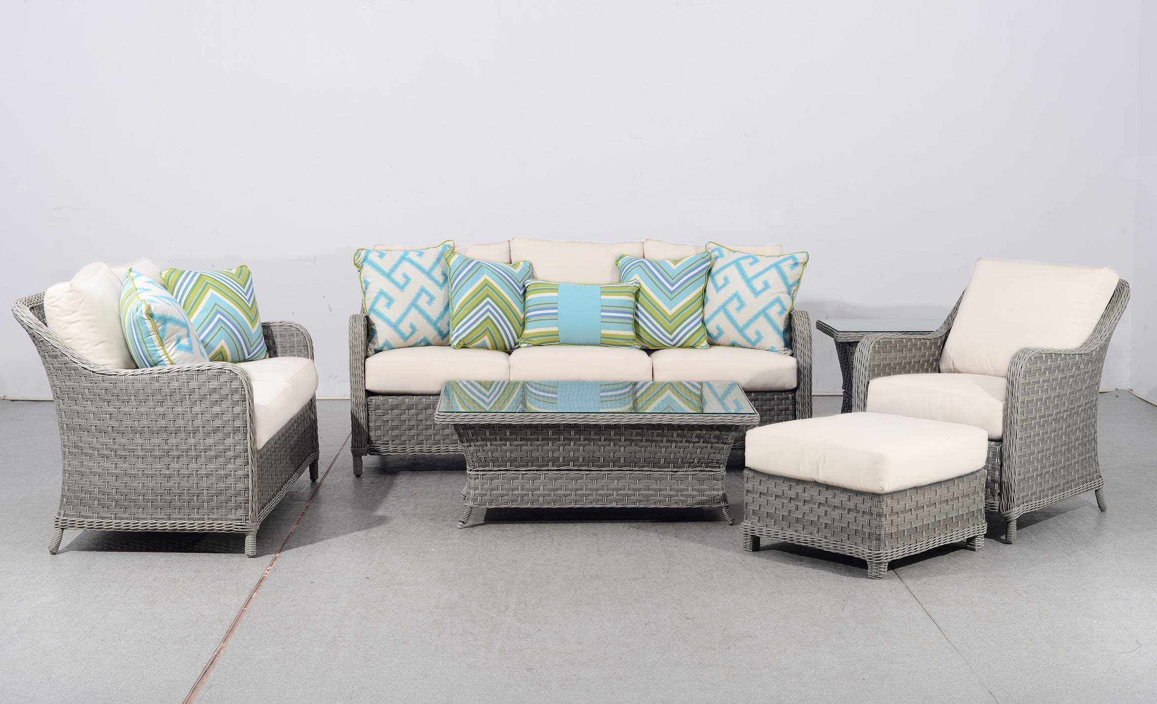 South Sea Rattan Mayfair Wicker Lounge Set Hover To Zoom