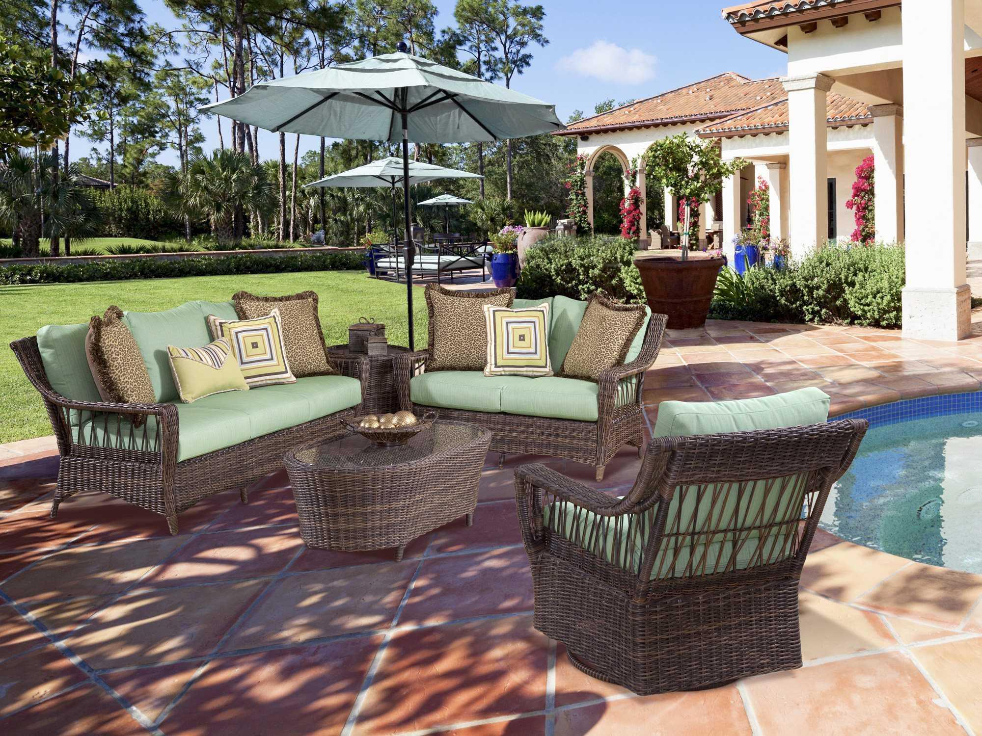 South sea rattan patio done quick saint john wicker lounge for Lounge set rattan gunstig