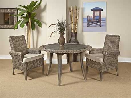 South Sea Rattan Provence Wicker Dining Set