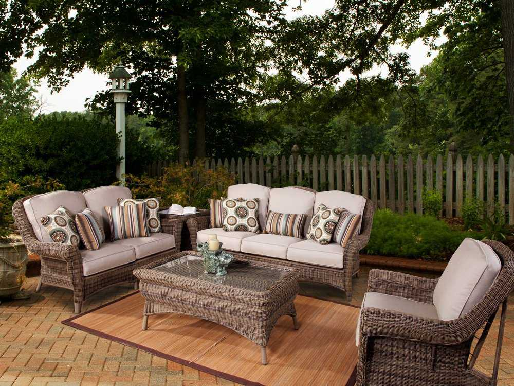 south sea rattan provence wicker lounge set prswr. Black Bedroom Furniture Sets. Home Design Ideas