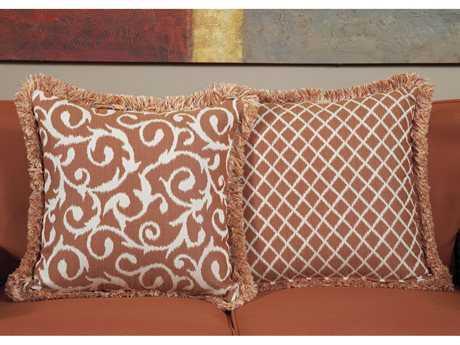 South Sea Rattan Pillow Talk Large Apricot Pillow SRPT11L