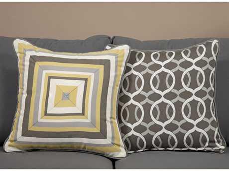 South Sea Rattan Pillow Talk Medium Lemon Grass Pillow SRPT12M