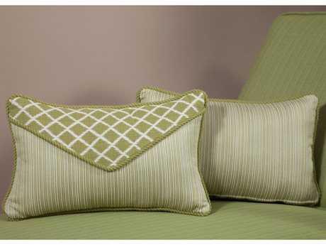 South Sea Rattan Pillow Talk Small Palm Pillow SRPT15S
