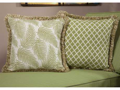 South Sea Rattan Pillow Talk Large Palm Pillow SRPT15L