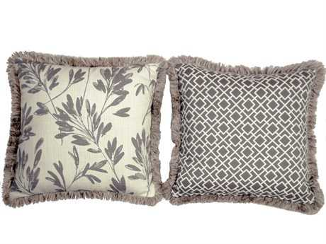 South Sea Rattan Pillow Talk Large Platinum Pillow