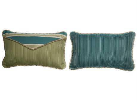 South Sea Rattan Pillow Talk Small Aquamarine Pillow SRPT20S
