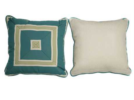 South Sea Rattan Pillow Talk Medium Aquamarine Pillow