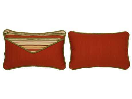 South Sea Rattan Pillow Talk Small Geranium Pillow SRPT21S