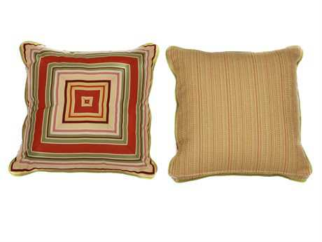 South Sea Rattan Pillow Talk Medium Geranium Pillow