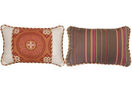 South Sea Rattan Pillow Talk Small Sunset Pillow