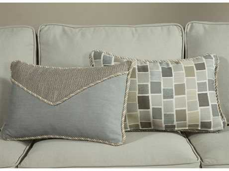 South Sea Rattan Pillow Talk Small Slate Pillow SRPT5S