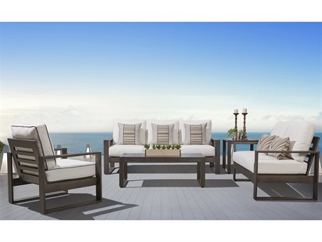 South Sea Rattan Ryan Aluminum Lounge Set