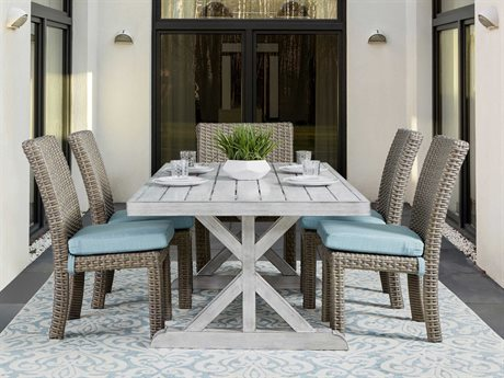 South Sea Rattan St Tropez Wicker Dining Set