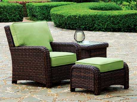 South Sea Rattan Saint Tropez Wicker Conversation Cushion Lounge Set