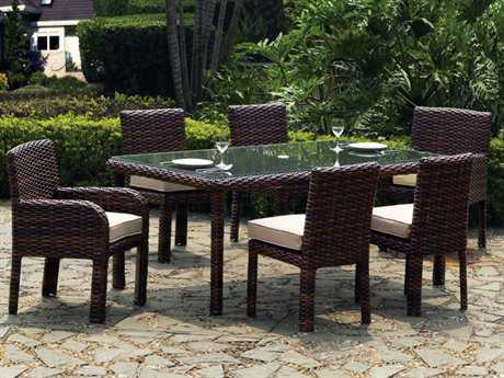 South Sea Rattan Saint Tropez Wicker Dining Set