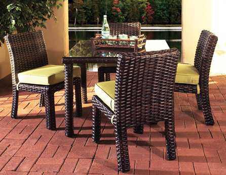 South Sea Rattan Saint Tropez Wicker Casual Cushion Dining Set