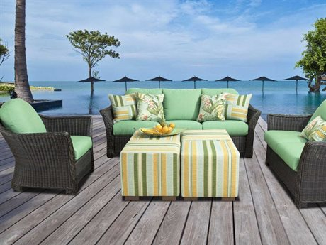 South Sea Rattan Fiji Wicker Lounge Set