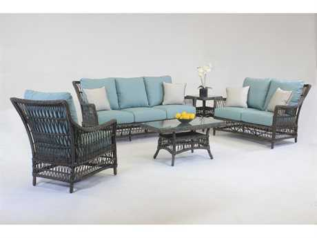 South Sea Rattan Westbay Wicker Lounge Set SRSRWESTLNGESET2
