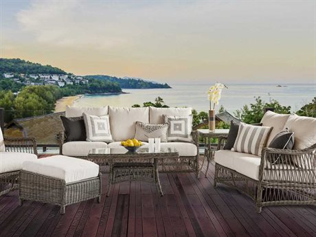 South Sea Rattan Westbay Wicker Lounge Set SRWESTLNGESET