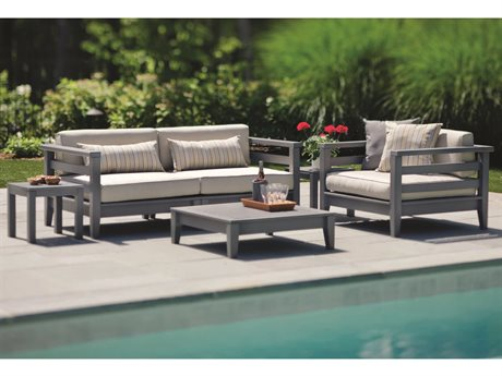 Seaside Casual Cambridge Recycled Plastic Cushion Lounge Set