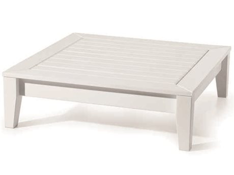 Seaside Casual The Cambridge Recycled Plastic 33'' Wide Square Coffee Table