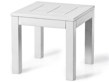 Seaside Casual The Cambridge Recycled Plastic 16'' Wide Square End Table