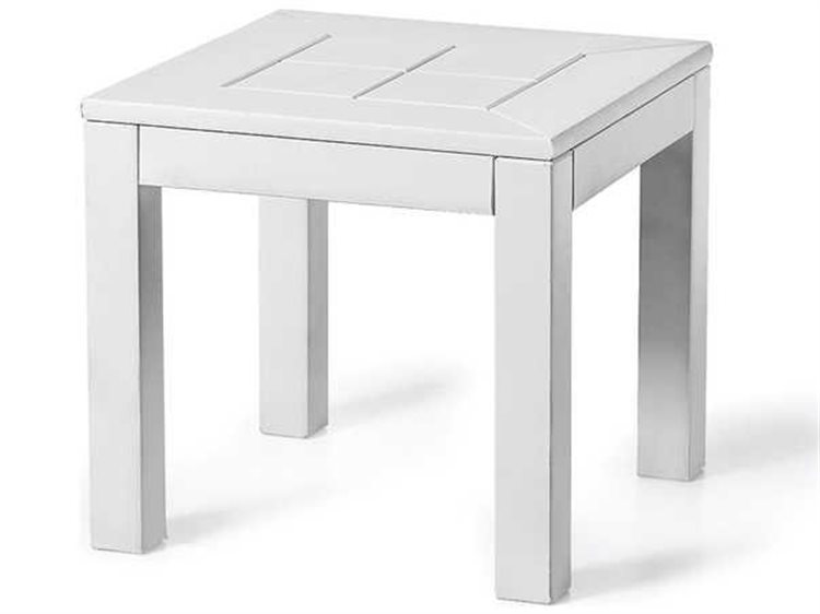 Seaside Casual Cambridge Recycled Plastic Southport 16'' Wide Square Bunching End Table PatioLiving