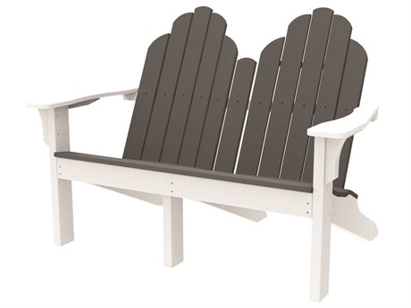 Seaside Casual The Classic Adirondack Recycled Plastic Loveseat