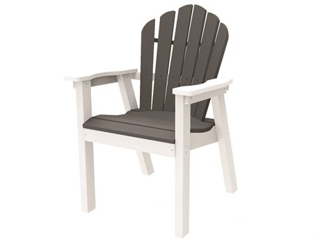 Seaside Casual The Classic Adirondack Recycled Plastic Dining Arm Chair