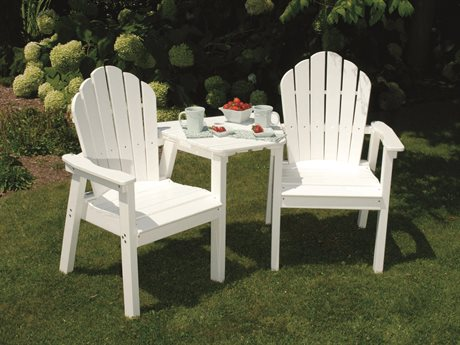Seaside Casual The Classic Adirondack Recycled Plastic Dining Set