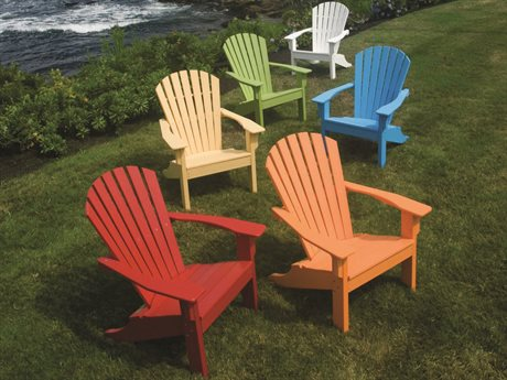 Seaside Casual Shellback Adirondack Recycled Plastic Lounge Set