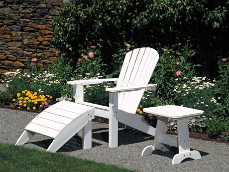 Seaside Casual The Shellback Adirondack Recycled Plastic Lounge Set