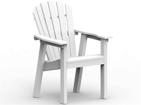 Seaside Casual Shellback Adirondack Recycled Plastic Dining Arm Chair