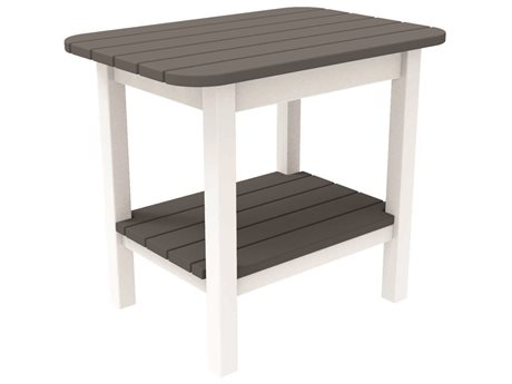 Seaside Casual The Westerly Occasionals Recycled Plastic 24''W x 17'' Rectangular End Table