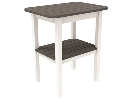 Seaside Casual The Westerly Occasionals Recycled Plastic 24''W x 17''D Rectangular End Table