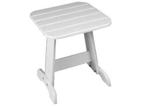 Seaside Casual The Classic Adirondack Recycled Plastic 19''W x 18''D Rectangular End Table