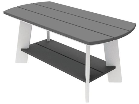 Seaside Casual The Classic Adirondack Recycled Plastic 36''W x 17''D Rectangular Coffee Table