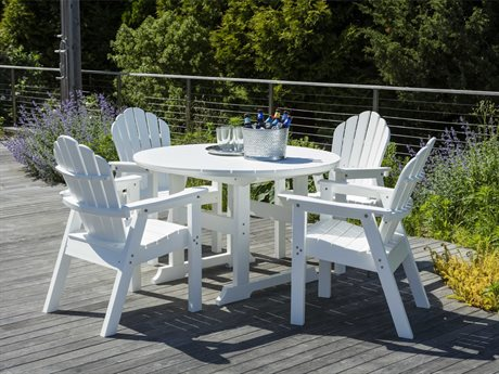 Seaside Casual The Salem Rounds Recycled Plastic Dining Set