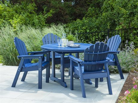 Seaside Casual Salem Rounds Recycled Plastic Dining Set