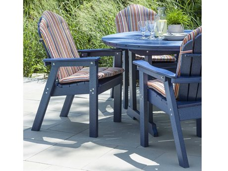 Seaside Casual Salem Rounds Recycled Plastic Dining Set PatioLiving