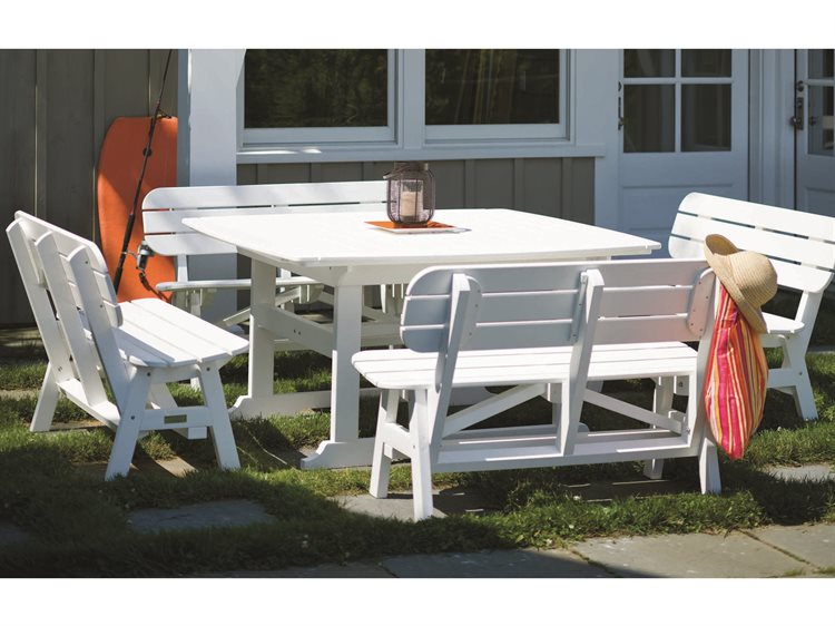 Seaside Casual The Portsmouth Recycled Plastic Dining Set PatioLiving